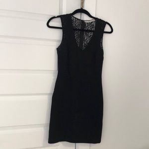 Black dress with lace black